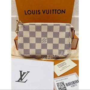 New Authentic Louis Vuitton Mini Pochette Azur